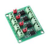 817 Optocoupler Placa de isolamento de tensão de 4 canais Módulo de comutação de controle de tensão Módulo de isolamento óptico 3,3V 5V