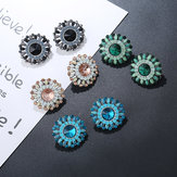 Luxe Crystal Rhinestone Stud Earrings Bohemian Flower