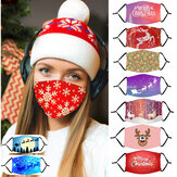 Adult Christmas Pattern Staubmaske mit PM2.5 Filterelement Cosplay Maske