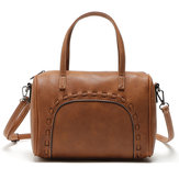 Large Capacity Women Retro Pu Leather Crossbody Bag Handbag