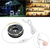 Waterproof USB Powered 2M LED Strip Light with Touch Dimmer Switch for Outdoor Home Decoration DC5V