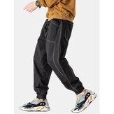 Erkek Dikiş Gevşek İpli Jogger Pantolon Büyük Cepli