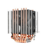 3 Pin CPU Cooler Fan Heatsink 6 Copper Heatpipe Cooling Fan for Intel 775/1150/1151/1155/1156/1366 and AMD All Platforms