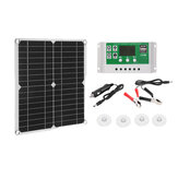40W Solar Panel Dual USB 30A Controller Solar Cell for Yacht RV Battery Charger