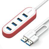 Samzhe 1.2m USB 3.0 - Çift USB Fişli 4 Bağlantı Noktalı USB 3.0 Hub