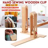 Artesanato em couro Sew Clipe De Madeira Costura Mão Ajustável braçadeira Ferramenta Essencial DIY