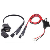 12V-24V 2.1A SAE naar USB-adapter met verlengsnoer Motorcycle Waterproof Charger