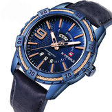 NAVIFORCE 9117 Business Style Calendar Men Reloj de pulsera