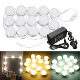 AC100-240V 14PC Hollywood Style LED Vanity Makeup Mirror Light Kit  for Dressing Table + UK Plug