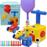 Inertia Balloon Powered Car Toys No Batteries Aerodynamics Upgraded With Launcher Rocket For Children Over 3 Years Old