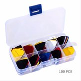 100pcs Acoustic Electric Guitar Picks with Box