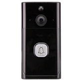 Inalámbrico WiFi Video Timbre a prueba de lluvia Smartphone Control remoto Video Cámara Conversación bidireccional de seguridad 166 °