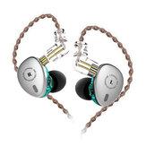 KBEAR KB06 2BA + 1DD Jednostki Metal HiFi Sport Słuchawki douszne 3.5 mm Super Bass Słuchawki douszne z kablem 2 cale do KBEAR F1 KB10