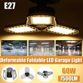 60W LED Garage E27 Light Bulb Deformable Ceiling Fixture Lights Shop Workshop Lamp