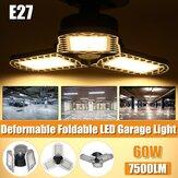 60W LED Garagem E27 Lâmpada de teto deformável Luzes de loja Oficina Lâmpada