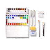マリーの18/24/36色固体水彩絵の具セット描画絵画学校画材文房具