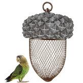 Demir Kuş Besleyici Outdoor Asılı Örgü Besleme Somun şeklinde Parkı Bahçe Pet Kuş Malzemeleri