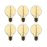 6PCS Dimmable AC220V G80 E27 40W Warm White Incandescent Light Bulbs for Indoor Home Decoration
