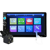 7010B 7 Inch 2Din Car MP5 Player IPS Touch Screen Stereo FM Radio bluetooth with Rear View Camera