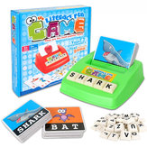 Kids Letters Alphabet Game English Learning Cards Toys Children's Figure Spelling Game Platter Puzzle Spell Words Early Learning Toys