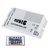DC12-24V 24 Keys IR Wireless Sound Music RGB Controller for LED Strip Lighting