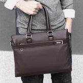Hommes Faux Cuir Business 15,6 pouces Sacoche pour ordinateur portable Porte-documents Sac à main