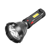 XANES® W5100 100LM USB Rechargeable LED Flashlight with COB Side Light 3 Modes Waterproof Outdoor Fishing Torch Lamp