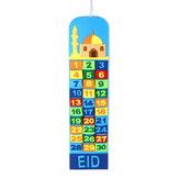 Kids Gift Mosque Ramadan Advent Calendar 30 Pockets Eid Mubarak Home DIY Decor