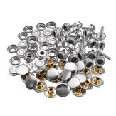 ZANLURE 25 Set Canvas Canopy Snap Stud Cap Boat Marine Cover Fastener Stainless Steel Screw