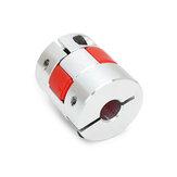 Machifit 5mm x 8mm Aluminium Flexible Spider Wellenkupplung OD25mm x L30mm CNC Schrittmotor Koppler Stecker