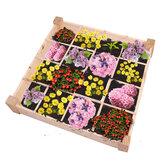 120x120x18cm 16 Grids Garden levantou cama Planta vaso de flores Plantaer jardim ao ar livre