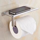 ورق تواليت للحمام مثبت على الحائط مع هاتف حامل مناديل ورقية حامل للمنزل