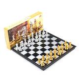 Magnetyczna szachownica zestaw 32 * 32 * 2cm składana gra logiczna zabawki wczesna edukacja zabawka edukacyjna interaktywne narzędzie do gry rodzic-dziecko