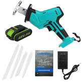 48V 1/2 Battery Rechargeable Cordless Reciprocating Saw Jigsaw+Blades/LED Light