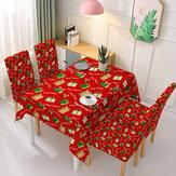 Karácsonyi asztalterítő székhuzat 3D nyomtatású ajándékdoboz asztali kendő ülésvédő papucs a bankettek szállodáihoz konyha otthoni iroda
