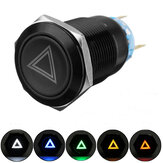 19mm 12V LED Push Button On Off Hazard Signal Light Switch do samochodu ciężarowego łodzi