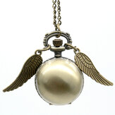 Golden Wings Snitch Quartz zakhorloge ketting