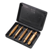 5Pcs Golden Damaged Screw Extractor Drill Bits Guide Set Broken Speed Out Stud Stripped Screw Remover Tool