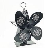 【クリスマススタイル】暖炉ヒーター用磁気温度計付き4ブレード熱式ストーブファン