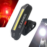 XANES 2 i 1 500LM Cykel USB Genopladelig LED Bike Forlygte Baglygte Ultralight Warning Night Light