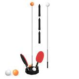 0,9-1,1 m 3 Gang verstellbarer Tischtennistrainer Kinder Familienspiel Sport Tischtennis Rebound Übungsmaschine mit 6 Stk. Tischtennis