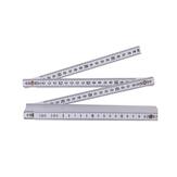TP 2M plastic vouwliniaal rechte liniaal dubbele schaal 10 sluitvoegen 200cm draagbare timmerman meetinstrumenten
