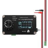 0.96 Inch OLED Display Mechanical Button 250 kHz Sampling Rate Simple Oscilloscope Metal Knob Adjustment Single-channel Measuring Mini Oscilloscope