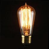 E27 ST58 40W Vintage Antique Edison Style Carbon Filament Clear Glass Bulb 220-240V