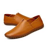 TamanhoGrandeHomensSoftSolaCouro Genuíno Flats Loafers