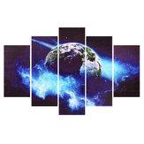 5 Panels Erdmuster ohne Rahmen Leinwand Malerei Hängende Bilder Wohnzimmer Büro Wanddekoration Zubehör