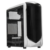 Black Desktop Computer Case Double USB 3.0/2.0 Interface Transparent Side Panel ATX Host Game PC Tower Case