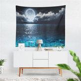 Sea Moon Tapestry Home Salon Ścianie Wiszące Tło Wystrój Tkanina Art Koc Ścienny Plaża Sypialnia Dekoracja
