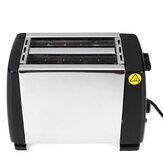 Multifunctionele automatische ontbijtmachine 750W 220V roestvrijstalen broodrooster Extra brede sleuven voor huishoudens