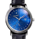 YAZOLE 366 Fashion Men Kuarsa Watch Casual Stars Pattern Dial Jam Tangan